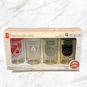 🇨🇦 PC   Set of 4 Canada Day Glasses
